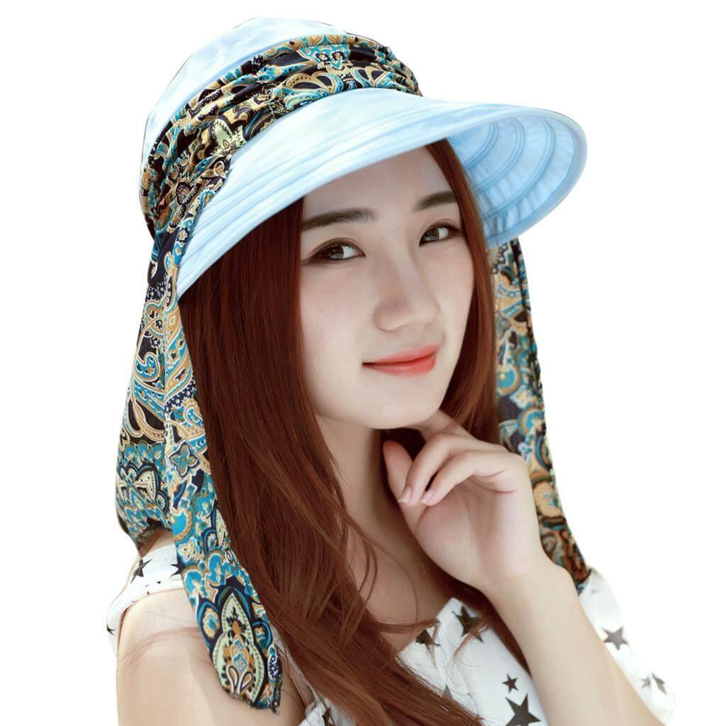 8ddbd825490037 Dcoteres Summer Women's Outdoor Beach Sunscreen Cap UV Protection Caps Sun  Visor Hat