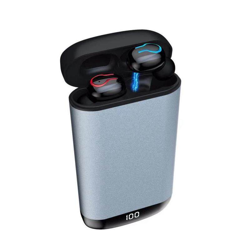 niceEshop Q66 Wireless Bluetooth V5.0 Earphone HD Stereo Sports Waterproof Earphone with Dual Mic and Charge Case Singapore