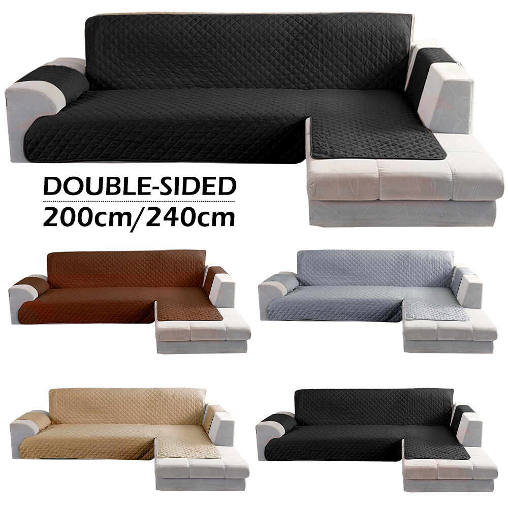 【On Sale Cleaning Warehouse】Sofa Set L Shape Sofa Cover Part Sofa Cover  Chaise Lounge Cover Reversible Sofa Cover Furniture Protection Cover  Suitable