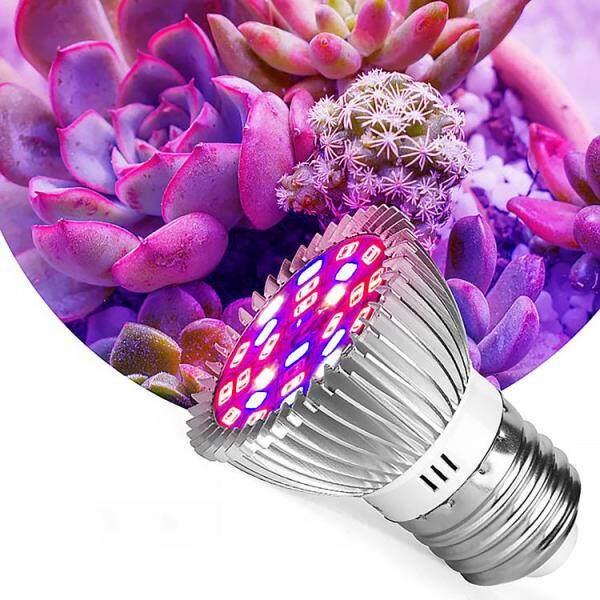 Đèn Trồng Cây KL E27 85-265VLED Đèn Tăng Trưởng Thực Vật, Đèn LED Lấp Đầy 28LED, Cho Tăng Trưởng