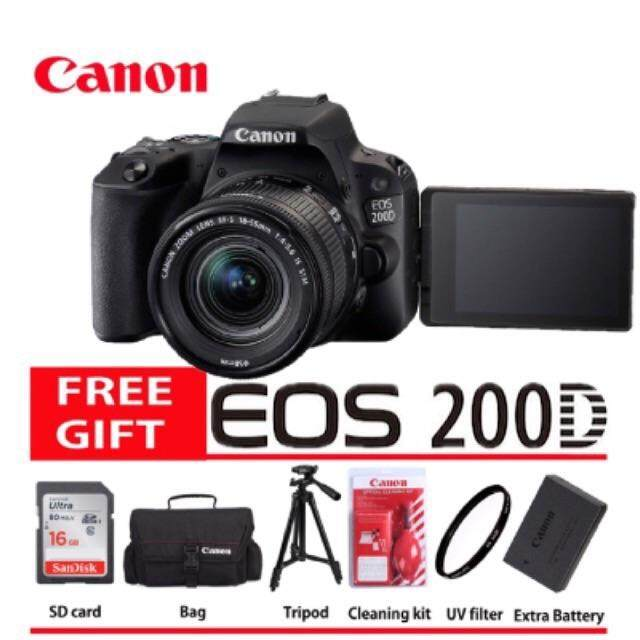 Canon Eos 200D 18-55Mm Stm Kit 100% Original Guarantee (Black)