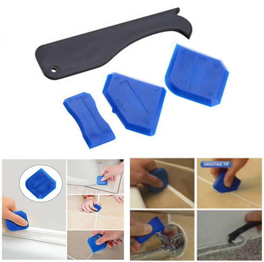 GOULD 4Pcs/Set Sealant Spatula Caulking Tool Kit Joint Silicone Grout Remover Scraper