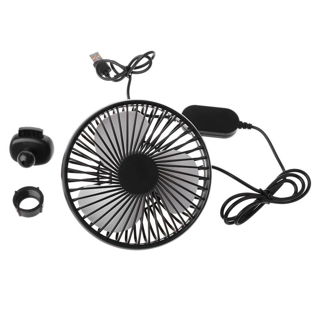 Xinmai Motor Universal 5V 360 Degree Rotation Adjustable Angle Car Air Vent  USB Fan 3 Speed Electric Air Blower Cooling Fan with ON OFF Switch