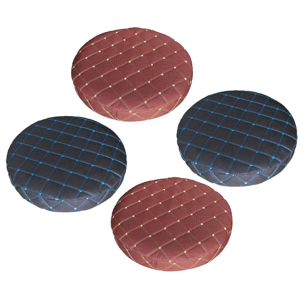 BolehDeals 4pcs 11 Round Bar Stool Covers Chair Seat Pad Cushion Slipcover Sleeve