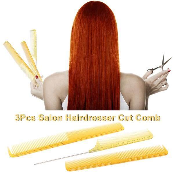 3 Cái Salon Tóc Lược Thợ Làm Tóc Cắt Bộ Lược Nhựa Cắt Tóc Lược Chuyên Nghiệp Lược Chải Tóc