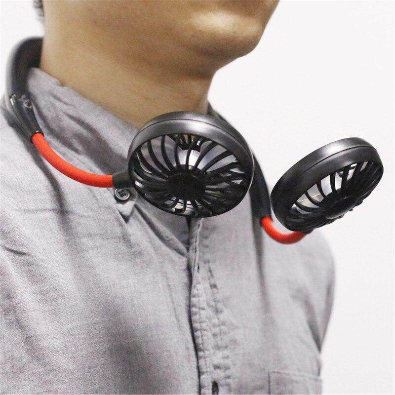 Portable Fan Hands-free USB Charging Neck Hanging 3 Gears Air Conditioner