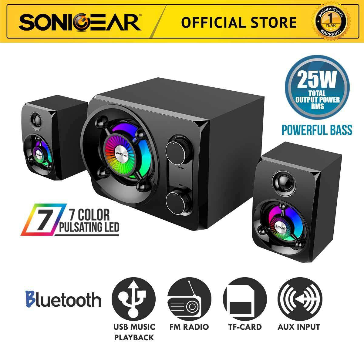 Sonicgear Titan 7 Btmi Bluetooth 2.1 Multimedia Speaker System With Usb Input, Sd Card, Fm Radio By Sonicgear Malaysia.