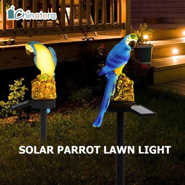 [Chinatera] Tự Động Năng Lượng Mặt Trời Điện LED Vẹt Đèn Thảm Cỏ Vườn Chống Thấm Ngoài Trời Đèn Chiếu Sáng Sân Vườn