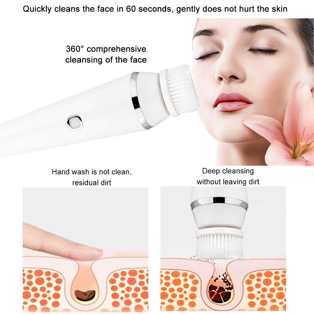 LISSNG Sạc Mới Rửa Mặt 3 trong 1 Dụng Cụ Điện Bàn Chải Cọ Rửa Làm Sạch Lỗ Chân Lông Rửa Mặt Rửa Dụng Cụ Máy Mát Xa Mặt tốt nhất