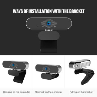 Webcam Usb HD 2K 1080P, Dibina-Dalam Mikrofon Ổ Đĩa-Percuma Auto-Memberi Tumpuan Hadiah Kamera Cho Video Memanggil Rakaman Persidangan E-pembelajaran thumbnail