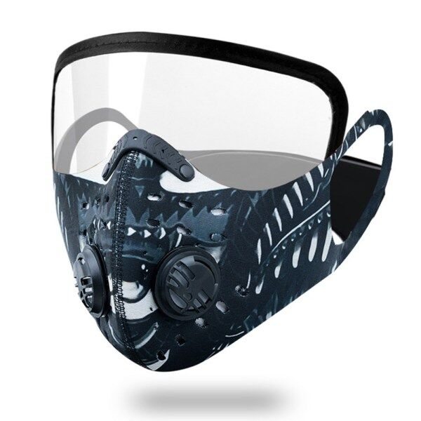 Anti-Fog And Activated Carbon Blocc Face Shield Dustproof Windproof Warm Bicycle Full Face Shield Visor Mountain Bike With Air Valve Riding Face Shied Glasses