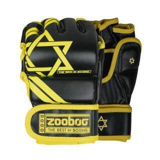 ZOOBOO Găng Tay Đấm Bốc Găng Tay Tập Luyện Găng Tay Tập Luyện Kickboxing MMA Thái Đấu-M Màu Vàng thumbnail