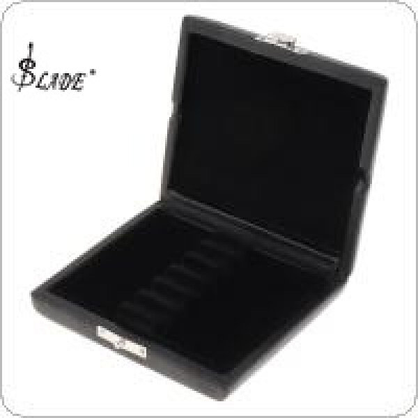 SLADE Black Leather Oboe Bassoon Reed Storage Case Box with Vent Holes for 6 Reeds Malaysia
