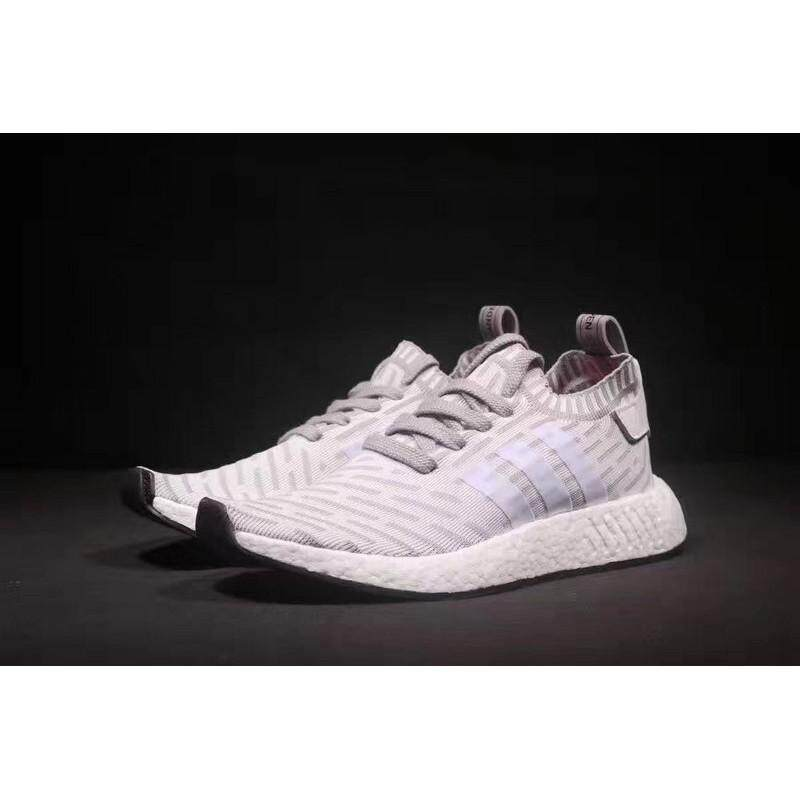 8163d7b7b YM Original ADIDAS NMD R2 Running Shoes Men Women Sneakers White
