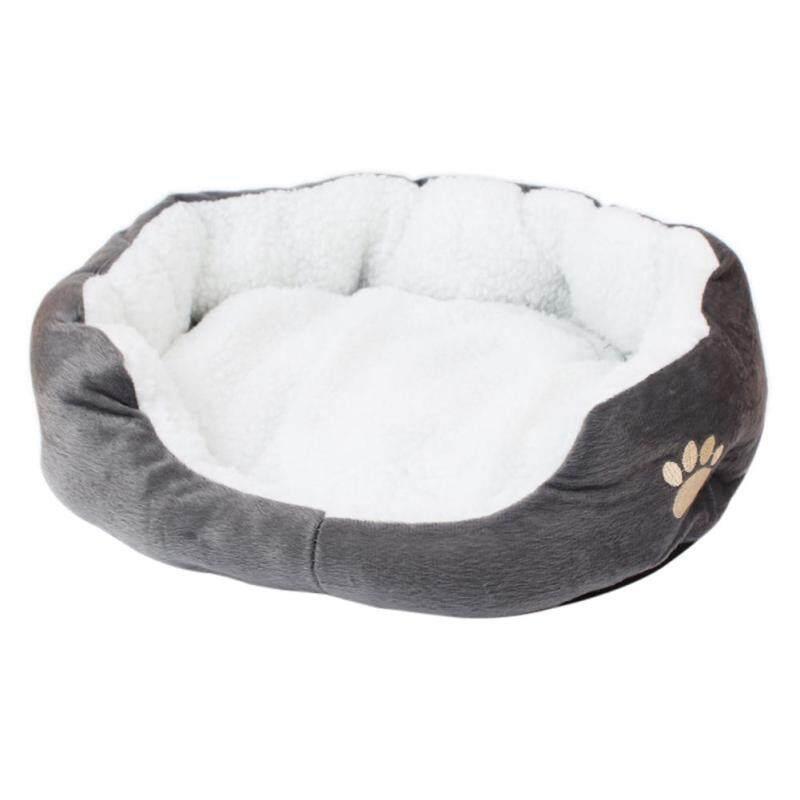 Huanhuang®Tròn Mềm Đệm Vải Nhung Pet Phần Còn Lại Giường Ngủ Mat Chó Mèo Ổ Nệm Ấm Pad Tổ