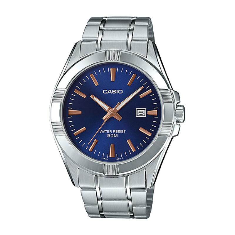 2019 Casio Mens Standard Analog Silver Stainless Steel Band Watch MTP1308D-2A MTP-1308D-2A Malaysia
