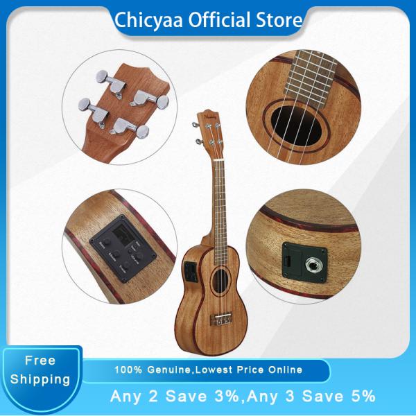 Muslady 24 Inch Ukulele Ukelele Uke Kit Sapele Wood with LCD EQ Including Carrying Bag Capo Strings Strap Finger Maraca Cleaning Cloth Malaysia
