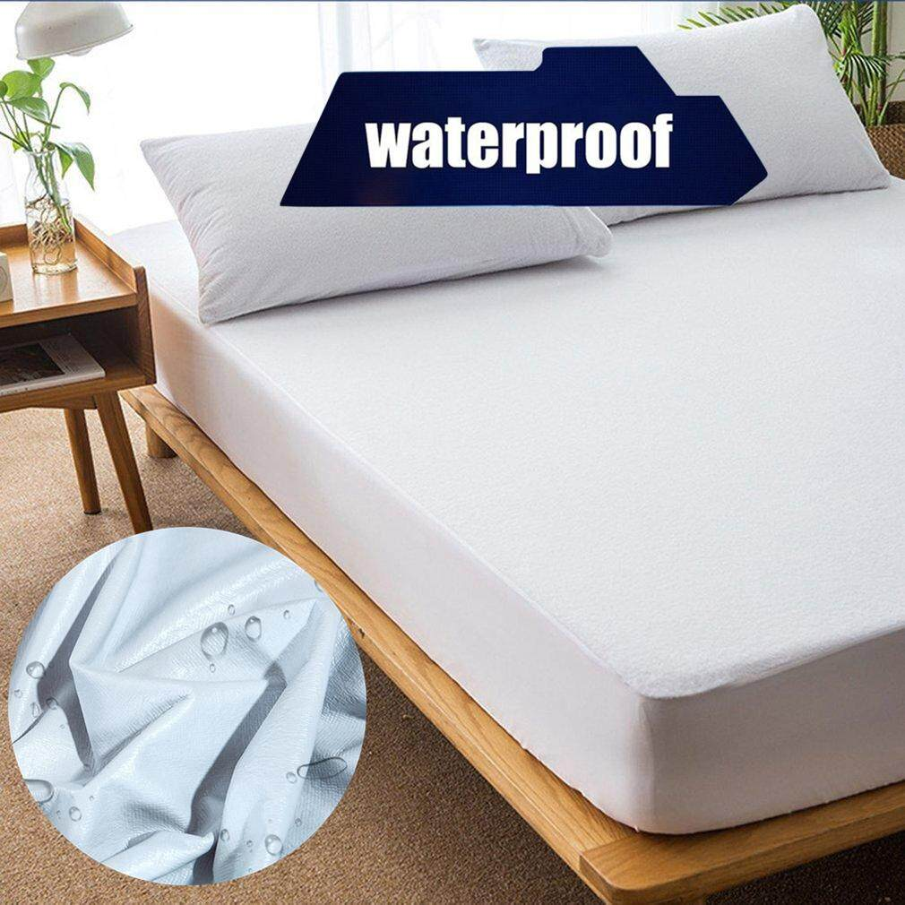 Liobaba Comfortable Ergonomic Design Waterproof Breathable Mattress Cover Protective Deep Fitted Sheet Hypoallergenic Bed Pad