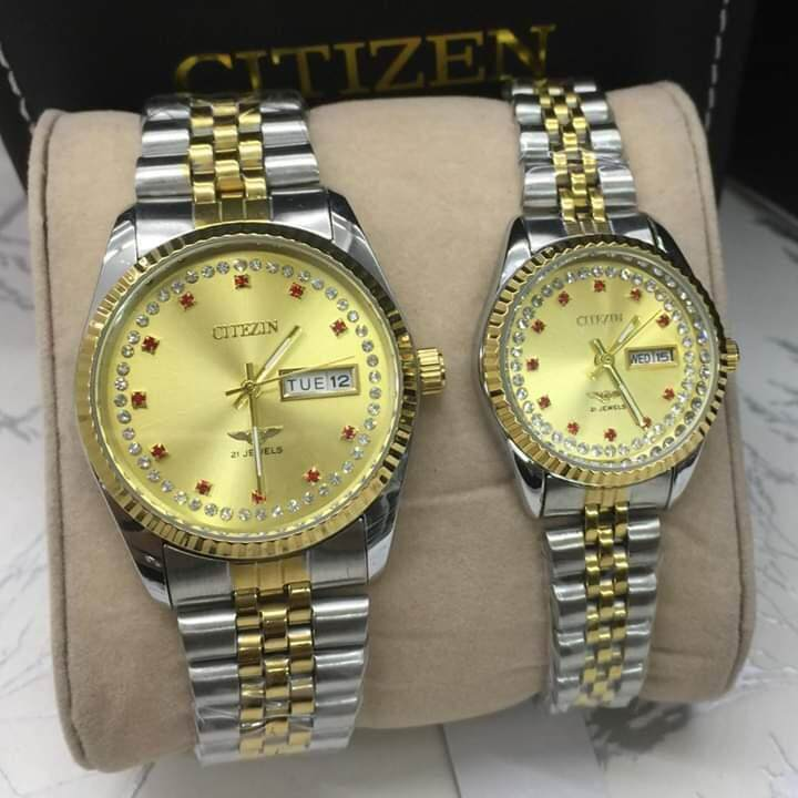 CITIZEN ANALOGUE STAINLESS STEEL STRAP WATCH FOR COUPLE Malaysia