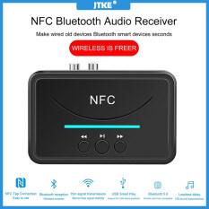 Bộ Thu Âm Thanh BT200 NFC Bluetooth 5.0 Bộ Chuyển Đổi Âm Thanh Bluetooth Stereo Không Dây, Loa Xe Hơi Âm Thanh AUX RCA NFC 3.5Mm