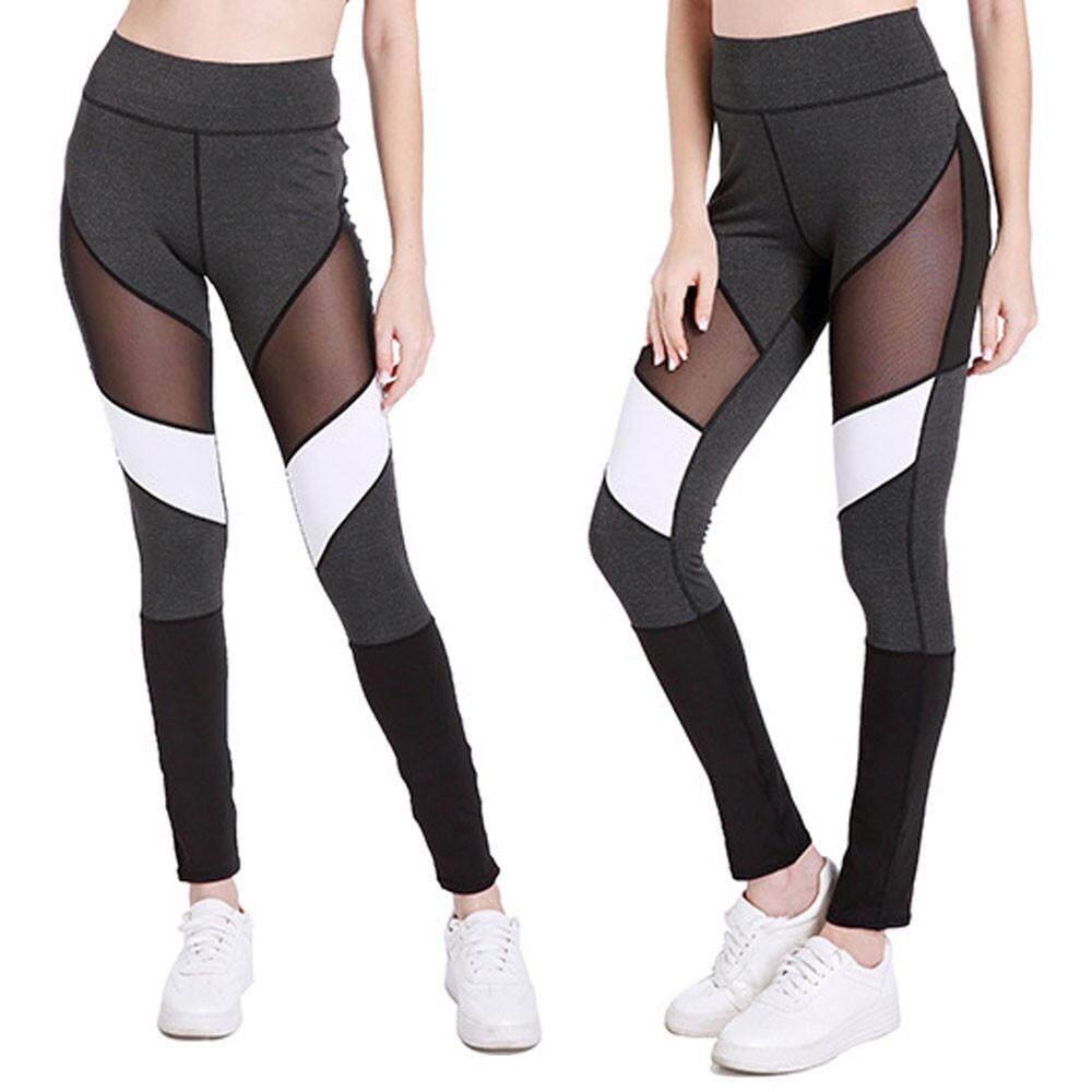 ba4bcd0525 TCTTheOne Women Workout Hollow ColorBlock Leggings Fitness Sport Gym Yoga  Athletic Pants