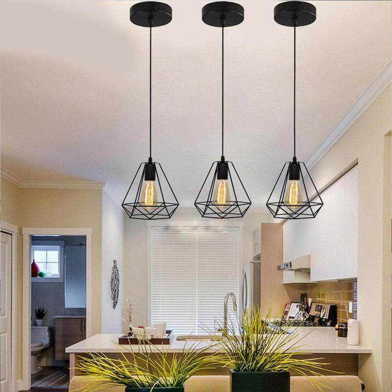 American retro chandelier restaurant lighting creative diamond bird cage living room lighting(Without light bulb)
