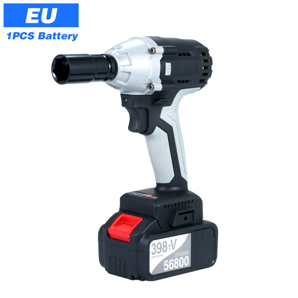 NANWEI Brushless Impact Wrench Cordless Electric Impact Wrench with 1/2in Chuck 980 Torque 4.0A B-attery with Driver Impact Sockets
