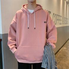 Áo hoodie dành cho nam dáng oversize phong cách Hàn Quốc chất liệu nỉ dày dặn
