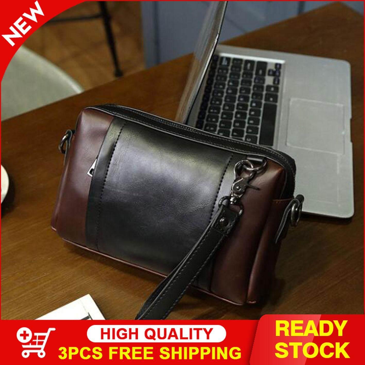 Johnn fashion trend mens bag shoulder bag mens Messenger bag handbag large capacity casual Korean version of the cross section