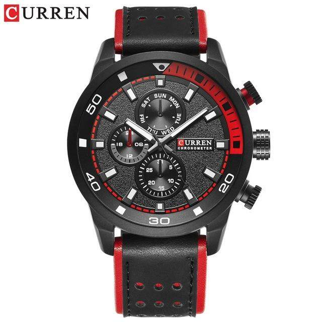 NEW Fashion Casual Waterproof Quartz Watch Men Military Leather Sports Watches Malaysia
