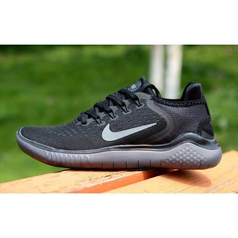 02aa5908ee94 NIKEE Free RN 2018 sports shoes running shoes Black 2 Men s women s casual sports  running shoes