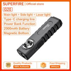 SupFire G20 Laser Đa Năng Đèn LED Đèn Pin Sạc USB Xách Tay Nhỏ Đèn Làm Việc