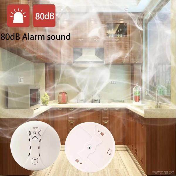 [Malaysia Ready Stock] Fire Smoke Security Detector Sensor Portable Independent Fire Alarm Sensor Battery Operation for Home/Office/Mall/Hotel/Restaurant