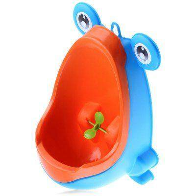 Wall - hanging Children Standing Urinal Separation Strong Sucker Toilet Training with Rotation Fan for Boy (BLUE)