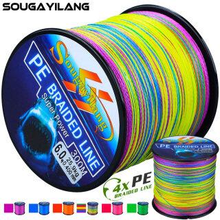 Sougayilang Bện Dây Câu 300M 4 Strands Dây Câu Saltwater 6 Colors Cá Chép Dây Câu thumbnail