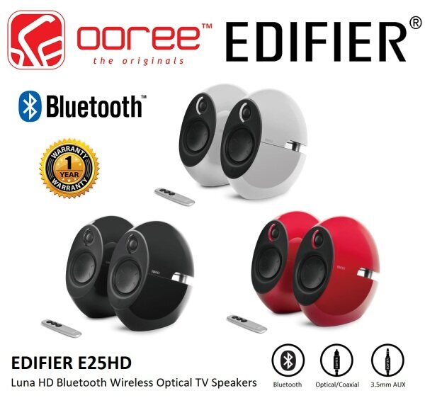 EDIFIER E25HD LUNA HD BLUETOOTH WIRELESS OPTICAL TV SPEAKERS WITH REMOTE CONTROLLER FLAWLESS SOUND POWERFUL EXPERIENCE Malaysia