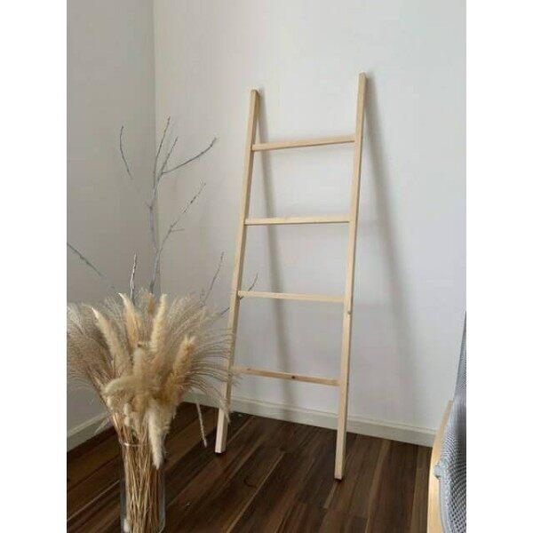 READY STOCK Decorative Ladder wood rustic home Decor towel ladder