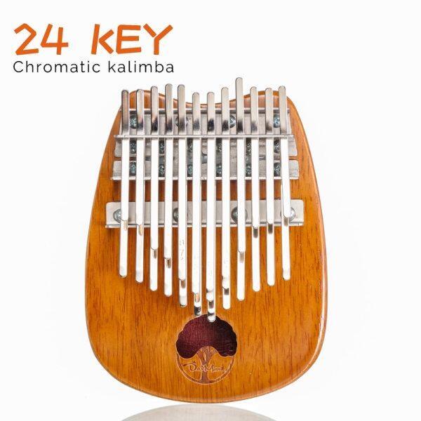 Kalimba 24 key Double layer Chromatic Thumb Piano Mbira Finger Pianos Portable Musical Instrument Malaysia