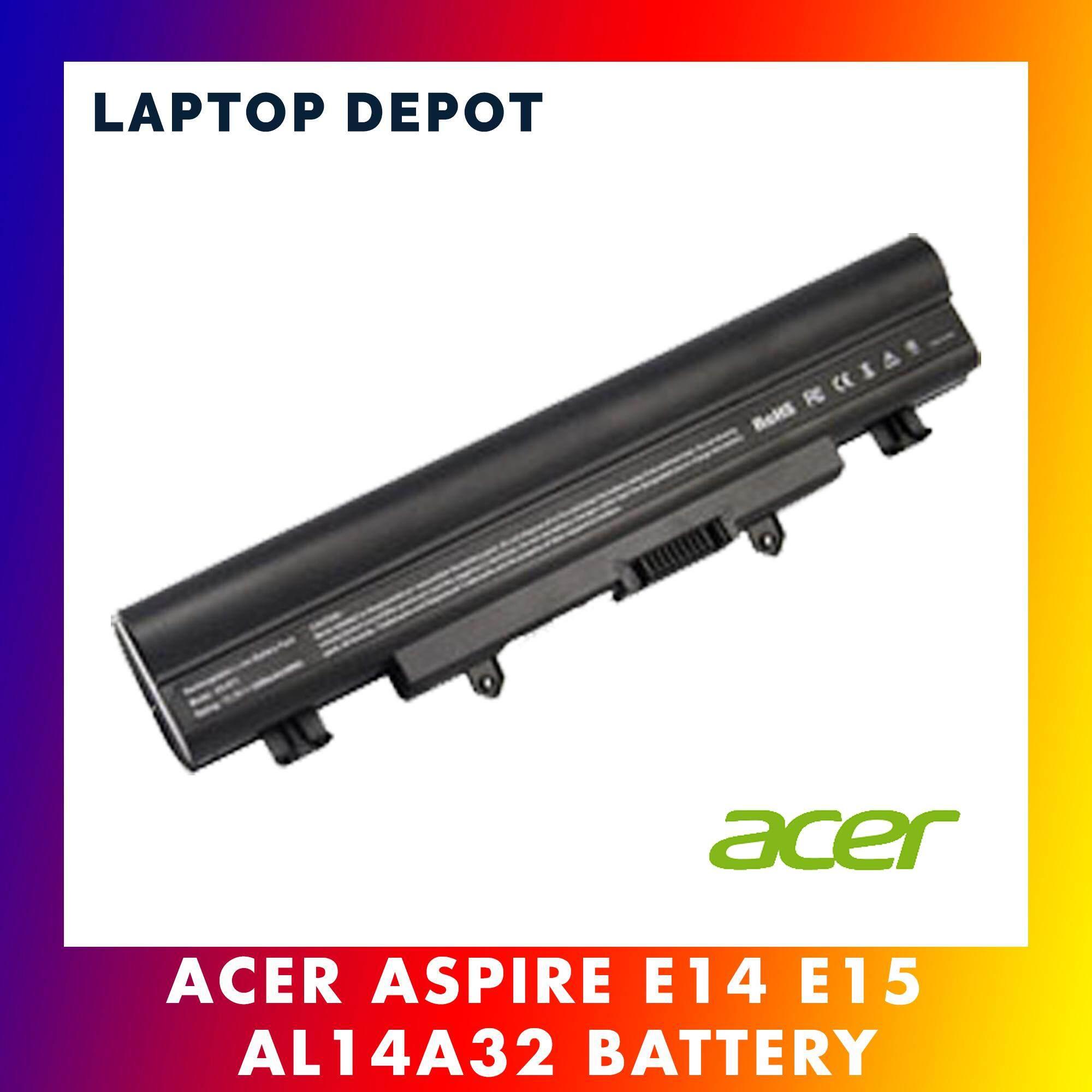 Acer Aspire E14 E15 E5-411 E5-421 E5-471 E5-571 V3-472 V3-572 V5-572 AL14A32 Laptop Battery Malaysia