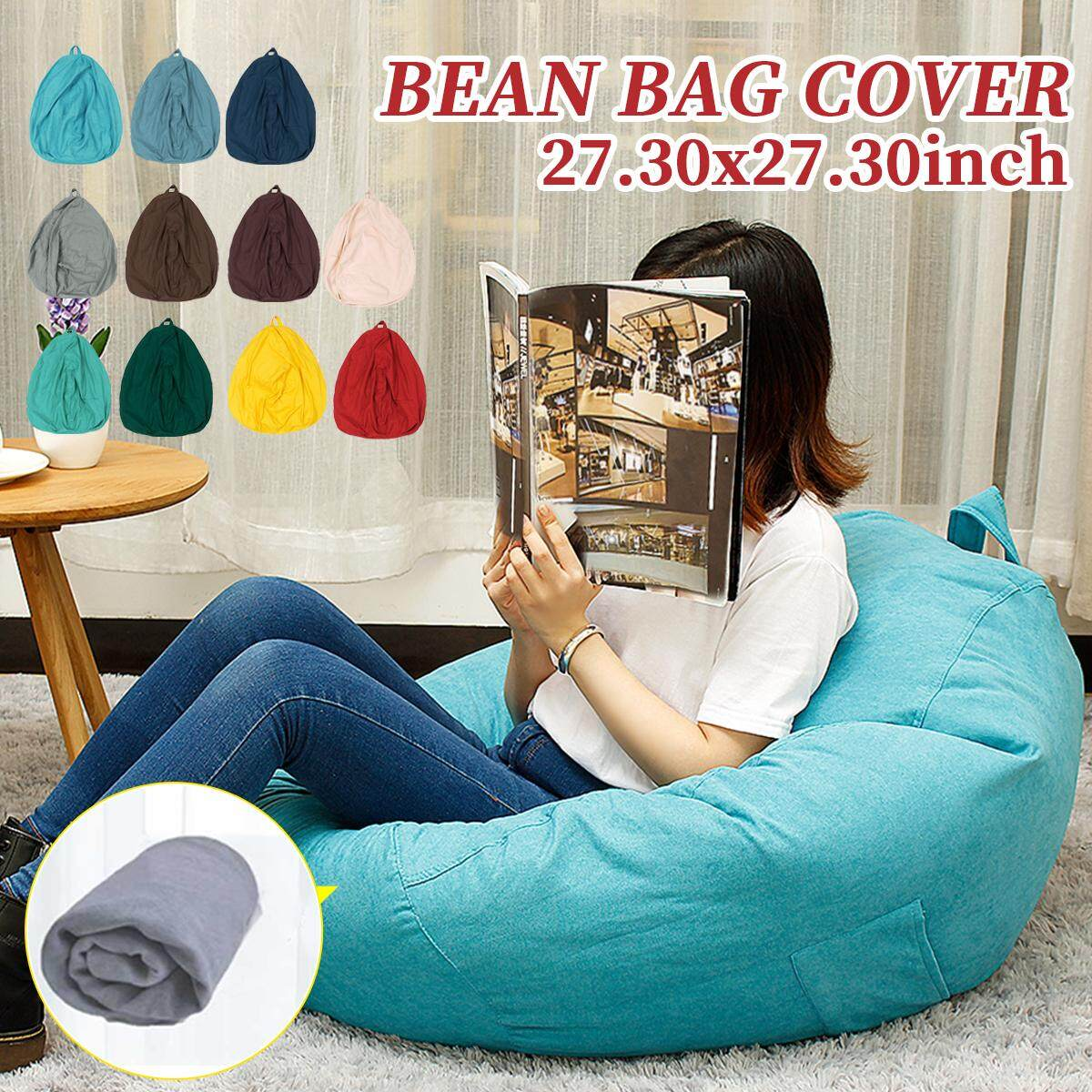 Fantastic 70X70Cm Lazy Beanbag Sofas Cover Chairs Without Filler Lounger Seat Bean Bag Pouf Puff Couch Tatami Living Room Short Links Chair Design For Home Short Linksinfo