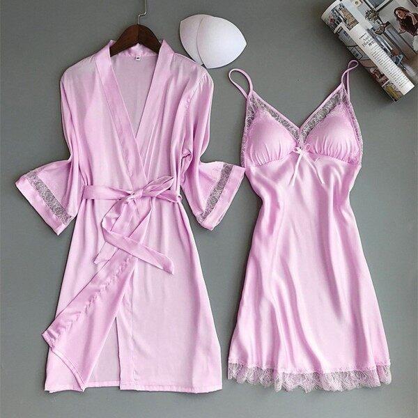 On sale New Satin Silk Pajamas  Nightdress Women  Robes Underwear Sleepwear Lingerie