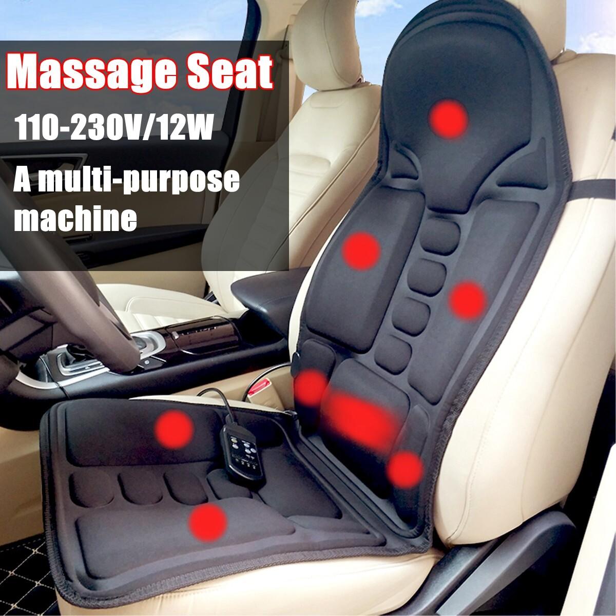 220V Portable Controllable Full Back Massager Cushion 3-Gear 8-Massage Mode Adjustable For Home Office & Travel Back Neck Shoulder Relaxation