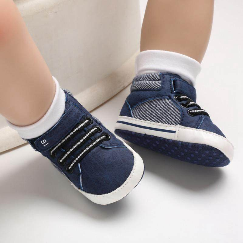 2d258278875c7 Baby Boys Breathable Mixed Color Design Anti-Slip Shoes Sneakers Toddler  Soft Soled First Walkers