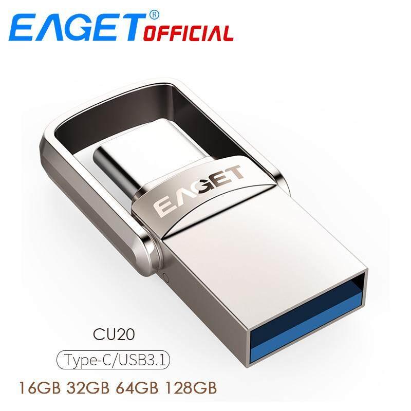 EAGET CU20 USB3.0 Type-C Pendrive USB OTG Type C Metal USB Flash Drive Dual Plug-16GB