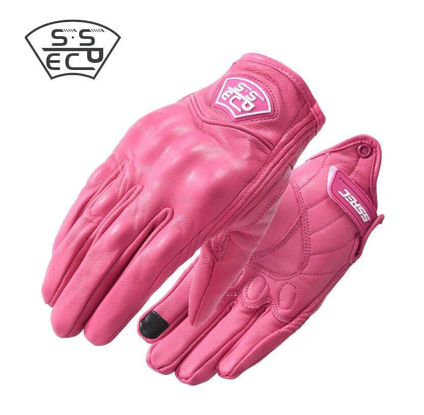 Motorcycle Moto Men Brown Retro Motorcycle Gloves Leather Full Finger Vintage Motorbike Riding Gloves
