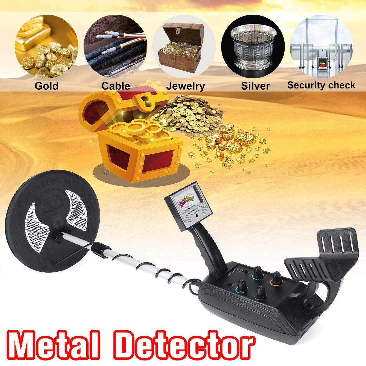【Free Shipping】3 5M Depth Handheld Underground Metal Detector Search Gold  Finder Hunter Gold Digger Adjust