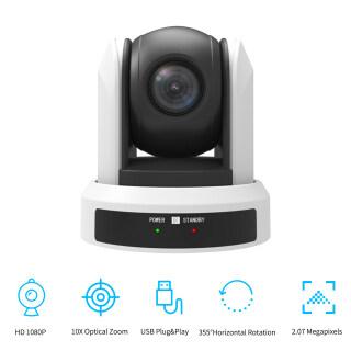 KKmoon Camera PTZ Gắn Tường Cho Hội Nghị Zoom Quang Học 10 Lần Kết Nối USB Với Điều Khiển Từ Xa, Cắm Và Chạy Tương Thích Với Windows Mac Để Phóng To Video Cuộc Họp Skype Dạy Học Trực Tuyến Đúc Web Trực Tiếp thumbnail
