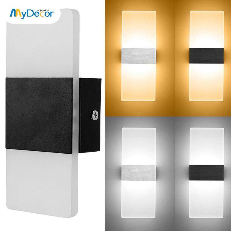 6W LED Wall Light Up Down Cube Indoor Outdoor Sconce Lighting Lamp Fixture Decor