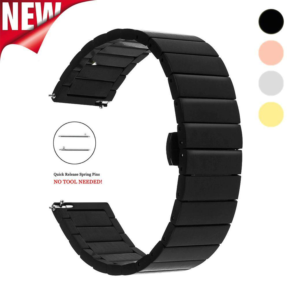 Stainless Steel Watch Band 18mm 20mm 22mm Replacement Smart Watch Link Bracelet for Samsung Gear S2 Classic S3 Frontier Classic Malaysia