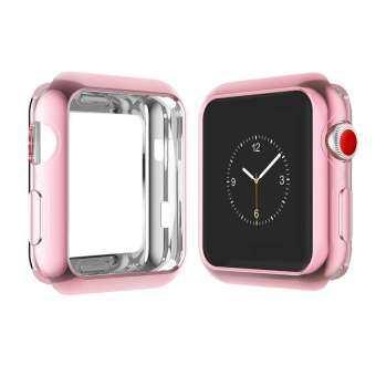 สำหรับ Apple iwatch4/3/2/1 รุ่น Universal กรณีป้องกัน Apple นาฬิกา TPU Apple นาฬิกาชุบ Frosted shell 38 มม., 40 มม.,42 มม.,44 มม.-